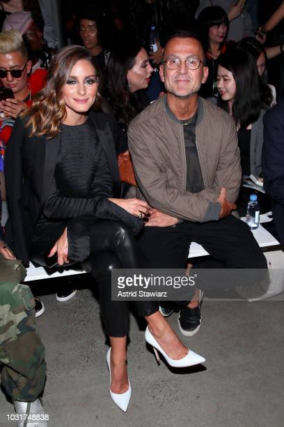 Olivia Palermo and Steven Kolb attend the Bosideng front Row during New York Fashion Week The Shows at Gallery I at Spring Studios on September 11...