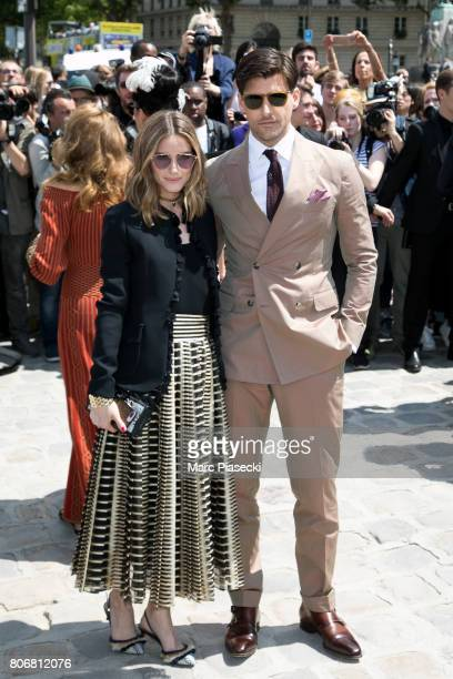 Olivia Palermo andd Johannes Huebl attend the Christian Dior Haute Couture Fall/Winter 20172018 show as part of Paris Fashion Week on July 3 2017 in...