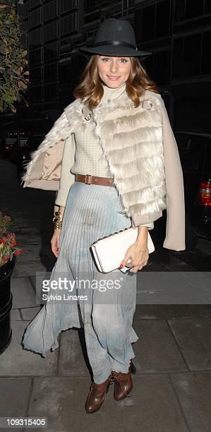 Olivia Palermo arrives at Mathew Williamson Fashion Show on February 20 2011 in London England