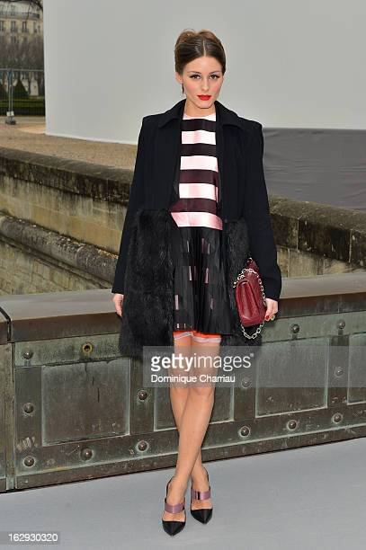 Olivia Palermo arrives at the Christian Dior Fall/Winter 2013 ReadytoWear show as part of Paris Fashion Week on March 1 2013 in Paris France