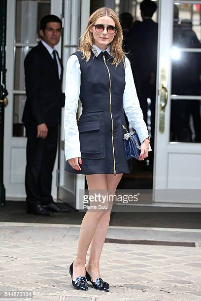 Olivia Palermo arrives at the Christian Dior Haute Couture Fall/Winter 20162017 show as part of Paris Fashion Week on July 4 2016 in Paris France