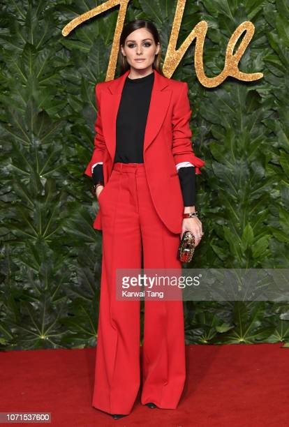 Olivia Palermo arrives at The Fashion Awards 2018 In Partnership With Swarovski at Royal Albert Hall on December 10 2018 in London England