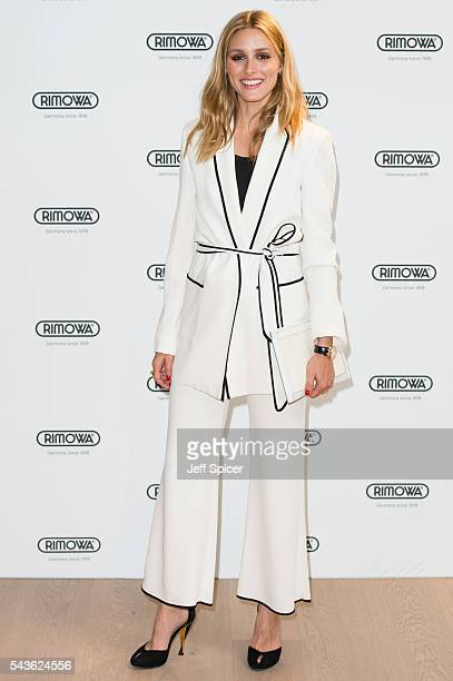 Olivia Palermo arrives for the RIMOWA store opening on June 29 2016 in London England