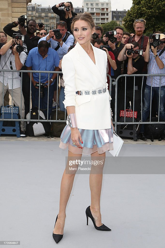 Olivia Palermo arrives to attend the Christian Dior show as part of Paris Fashion Week Haute Couture Fall/Winter 2013-2014 at on July 1, 2013 in Paris, France.