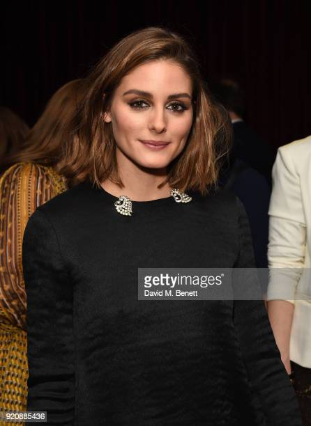 Olivia Palermo attends a cocktail party in honour of Alison Loehnis' 10 year anniversary at NETAPORTER on February 19 2018 in London England