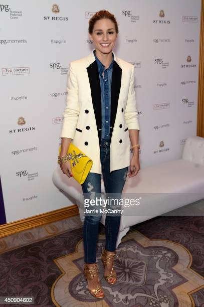 Olivia Palermo attends an intimate performance by Janelle Monae at The St Regis New York as part of the Starwood Preferred Guest Hear the Music See...