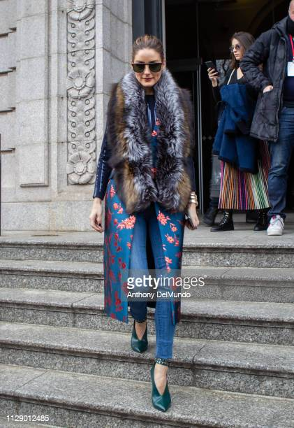 Olivia Palermo attends Carolina Herrera fall 2019 runway show during New York Fashion Week held at New York Historical Society 170 Central Park West...