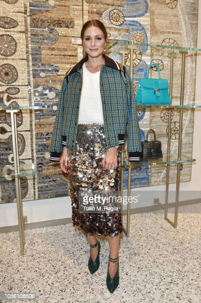 Olivia Palermo attends Delvaux Cocktails on September 19 2018 in Milan Italy