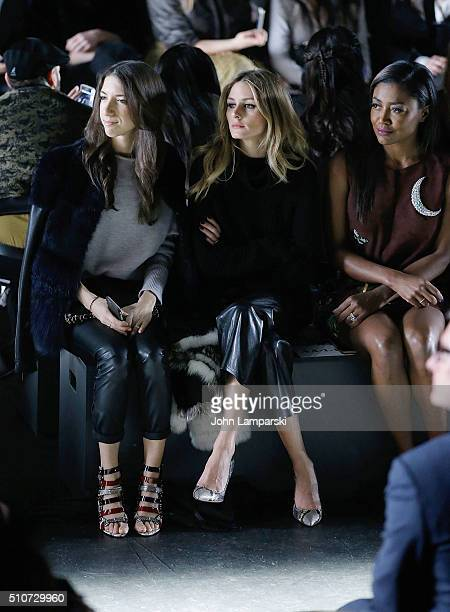 Olivia Palermo attends Dennis Basso Fall 2016 show New York Fashion Week: The Shows at The Arc, Skylight at Moynihan Station on February 16, 2016 in...