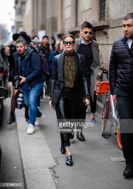 Olivia Palermo attends Ermanno Scervino show at Milan Fashion Week Autumn/Winter 2019/20 on February 23 2019 in Milan Italy