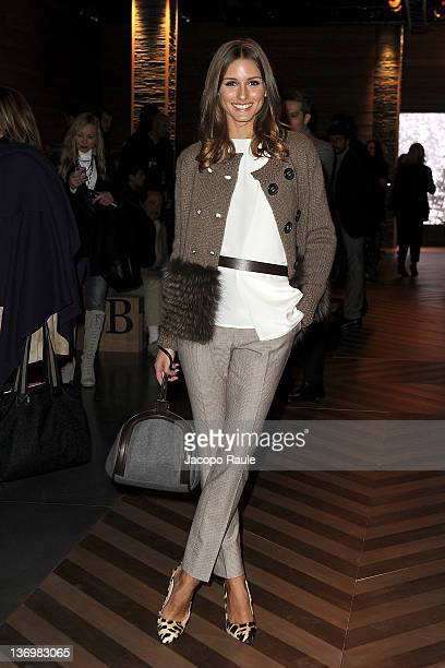 Olivia Palermo attends Ermenegildo Zegna Front Row during Milan Fashion Week Menswear Autumn/Winter 2012 on January 14 2012 in Milan Italy