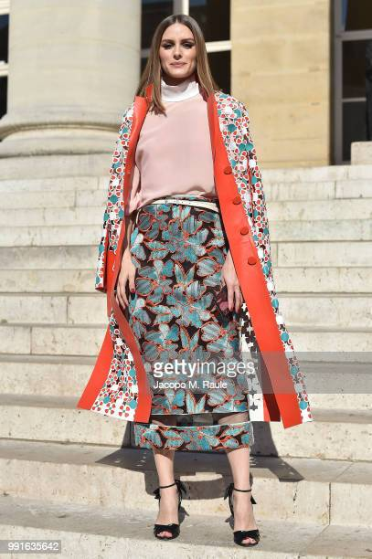 Olivia Palermo attends Fendi Couture during Paris Fashion Week - Haute Couture Fall Winter 2018/2019 - on July 4, 2018 in Paris, France.