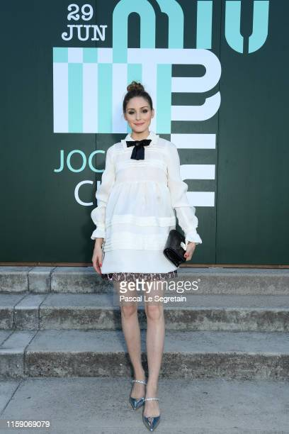 Olivia Palermo attends miu miu club event at Hippodrome d'Auteuil on June 29 2019 in Paris France