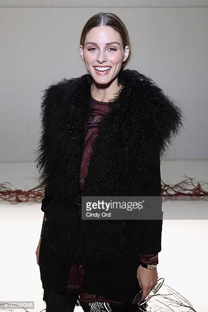 Olivia Palermo attends Rachel Zoe Fall 2016 during New York Fashion Week The Shows at The Space Skylight at Clarkson Sq on February 14 2016 in New...