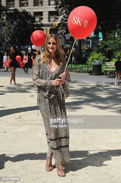 Olivia Palermo attends SKII #ChangeDestiny Dream Again at Madison Square Park on June 21 2016 in New York City