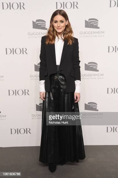 Olivia Palermo attends the 2018 Guggenheim International Gala PreParty made possible by Dior at Solomon R Guggenheim Museum on November 14 2018 in...