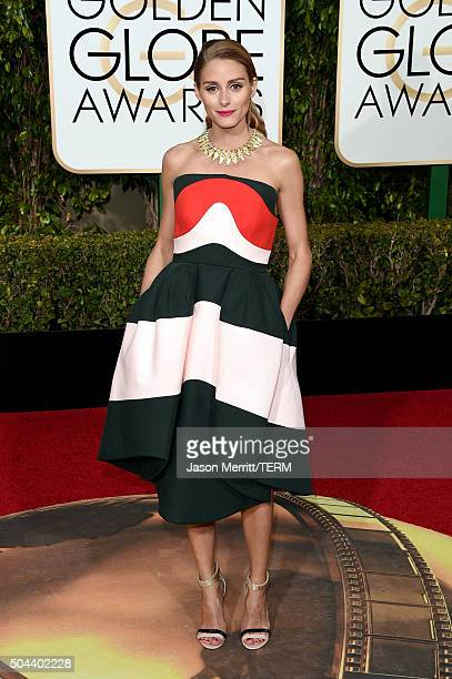 Olivia Palermo attends the 73rd Annual Golden Globe Awards held at the Beverly Hilton Hotel on January 10 2016 in Beverly Hills California