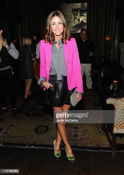 Olivia Palermo attends the after party for The Cinema Society Grey Goose screening of There Be Dragons at the Soho Grand Hotel on May 5 2011 in New...