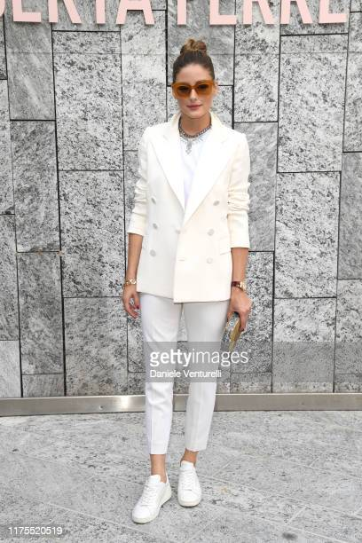 Olivia Palermo attends the Alberta Ferretti fashion show during the Milan Fashion Week Spring/Summer 2020 on September 18 2019 in Milan Italy