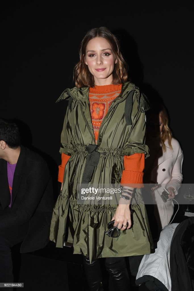 Olivia Palermo attends the Alberta Ferretti show during Milan Fashion Week Fall/Winter 2018/19 on February 21, 2018 in Milan, Italy.