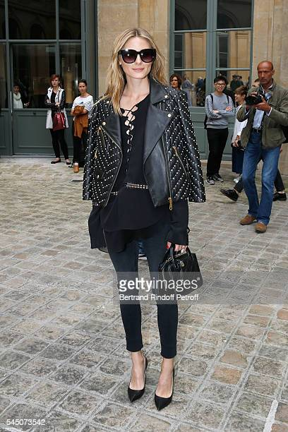 Olivia Palermo attends the Alexis Mabille Haute Couture Fall/Winter 20162017 show as part of Paris Fashion Week on July 5 2016 in Paris France