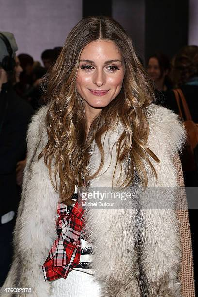 Olivia Palermo attends the Andrew GN show as part of the Paris Fashion Week Womenswear Fall/Winter 20142015 on March 2 2014 in Paris France