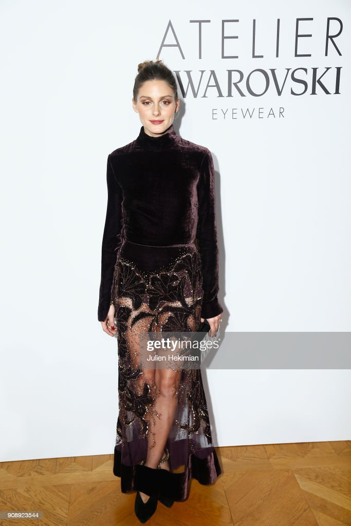 Olivia Palermo attends the Swarovski Eyewear Diner as part of Paris Fashion Week at Hotel Crillon on January 22, 2018 in Paris, France.