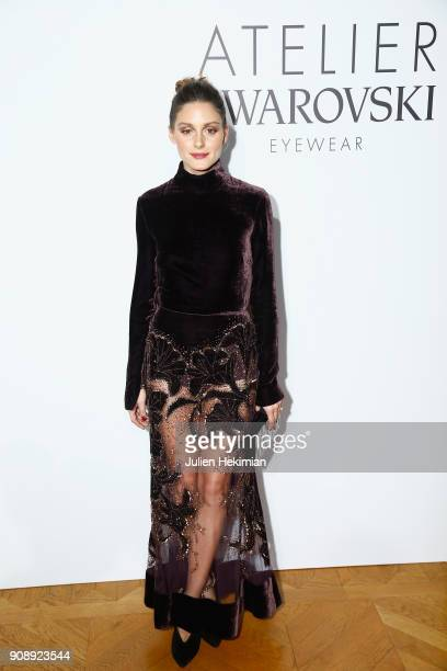 Olivia Palermo attends the Atelier Swarovski Eyewear Dinner as part of Paris Fashion Week at Hotel Crillon on January 22 2018 in Paris France