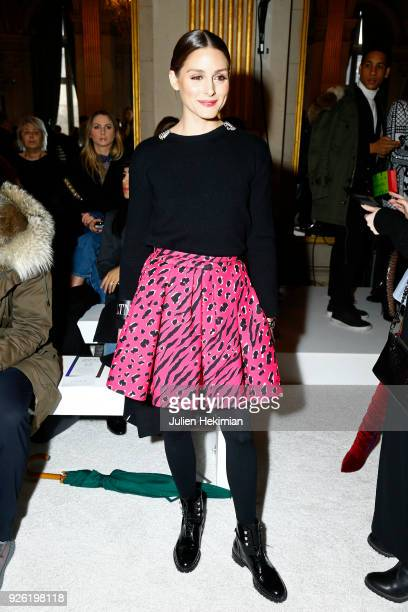 e666374b76 Olivia Palermo attends the Balmain show as part of the Paris Fashion Week  Womenswear Fall/