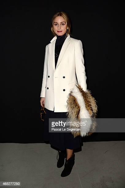 Olivia Palermo attends the Barbara Bui show as part of the Paris Fashion Week Womenswear Fall/Winter 2015/2016 on March 5, 2015 in Paris, France.