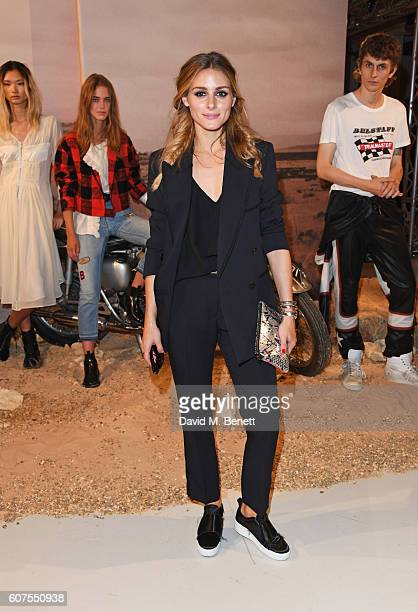 Olivia Palermo attends the Belstaff and Liv Tyler launch of Spring Summer 17 during London Fashion Week at Victoria House on September 18 2016 in...
