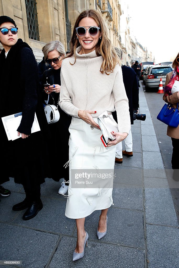 Olivia Palermo attends the Chalayan show as part of the Paris Fashion Week Womenswear Fall/Winter 2015/2016 on March 6, 2015 in Paris, France.