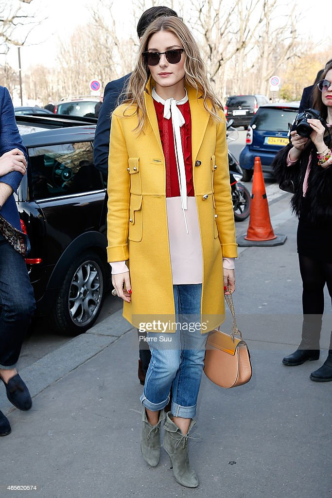 Olivia Palermo attends the Chloe show as part of the Paris Fashion Week Womenswear Fall/Winter 2015/2016 on March 8, 2015 in Paris, France.