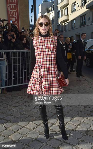 Olivia Palermo attends the Christian Dior Haute Couture Spring Summer 2016 show as part of Paris Fashion Week on January 25 2016 in Paris France