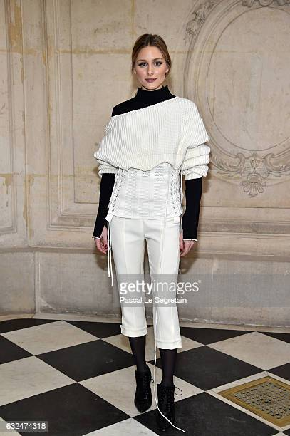 Olivia Palermo attends the Christian Dior Haute Couture Spring Summer 2017 show as part of Paris Fashion Week on January 23, 2017 in Paris, France.