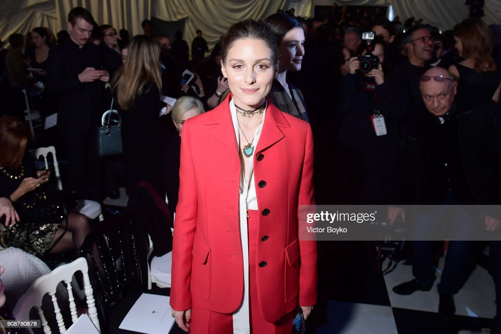 Olivia Palermo attends the Christian Dior Haute Couture Spring Summer 2018 show as part of Paris Fashion Week on January 22, 2018 in Paris, France.