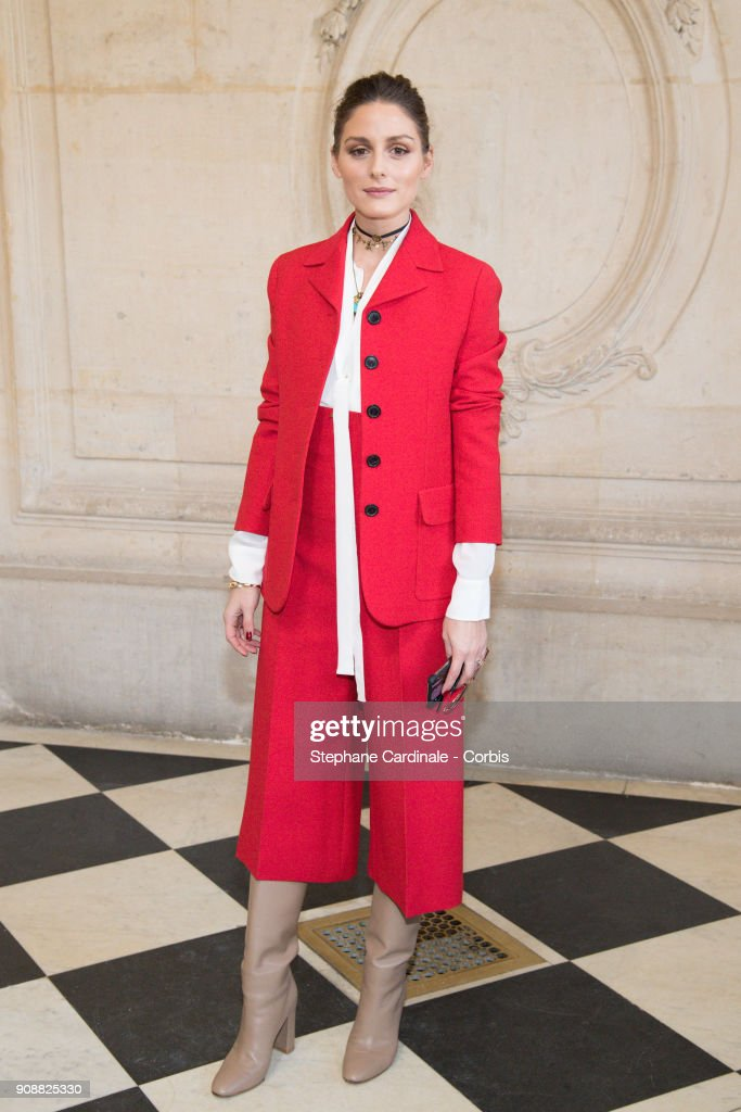 Olivia Palermo attends the Christian Dior Haute Couture Spring Summer 2018 show as part of Paris Fashion Week January 22, 2018 in Paris, France.