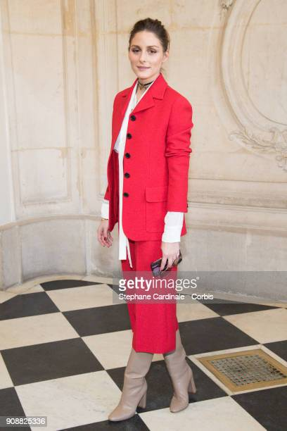 Olivia Palermo attends the Christian Dior Haute Couture Spring Summer 2018 show as part of Paris Fashion Week January 22 2018 in Paris France
