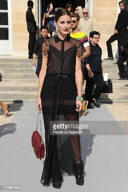 Olivia Palermo attends the Christian Dior Ready to Wear Spring / Summer 2012 show during Paris Fashion Week at Musee Rodin on September 30 2011 in...