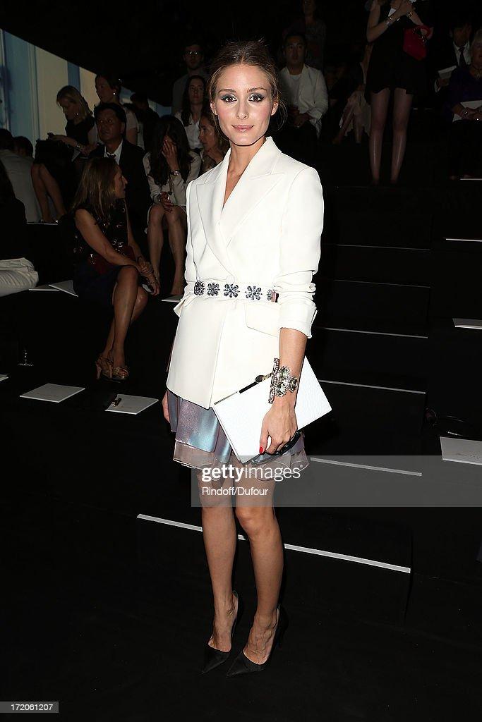 Christian Dior: Front Row - Paris Fashion Week Haute-Couture F/W 2013-2014 : News Photo