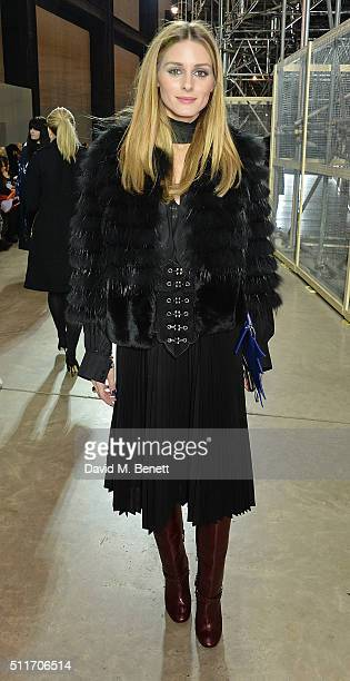 Olivia Palermo attends the Christopher Kane show during London Fashion Week Autumn/Winter 2016/17 at Tate Modern on February 22 2016 in London England