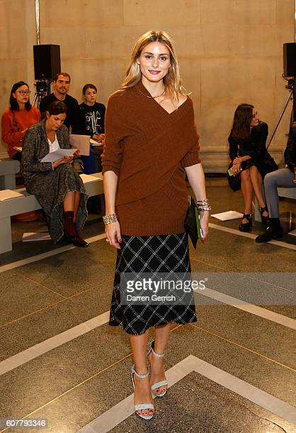 Olivia Palermo attends the Christopher Kane show during London Fashion Week Spring/Summer collections 2017 on September 19 2016 in London United...