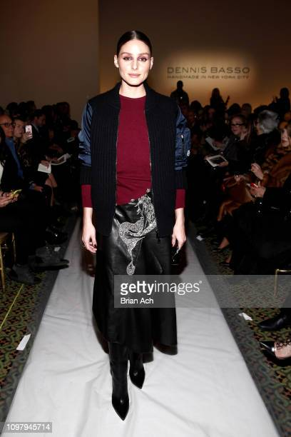 Olivia Palermo attends the Dennis Basso front row during New York Fashion Week The Shows at Cipriani 42nd Street on February 11 2019 in New York City