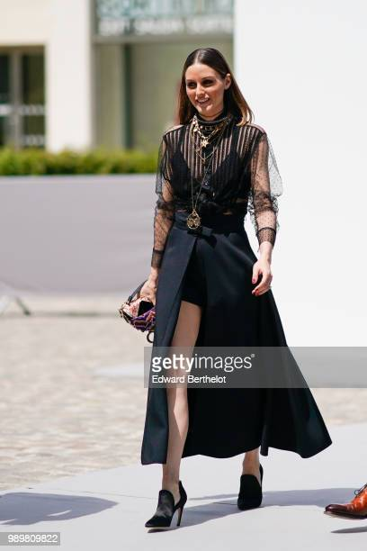 Olivia Palermo attends the Dior show during Paris Fashion Week Haute Couture Fall Winter 2018/2019 on July 2 2018 in Paris France