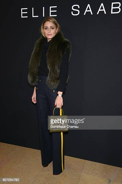 Olivia Palermo attends the Elie Saab Haute Couture Spring Summer 2016 show as part of Paris Fashion Week on January 27 2016 in Paris France