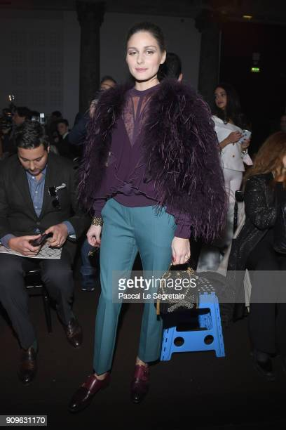 Olivia Palermo attends the Elie Saab Haute Couture Spring Summer 2018 show as part of Paris Fashion Week on January 24, 2018 in Paris, France.