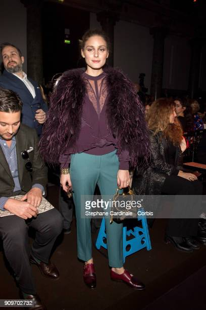 Olivia Palermo attends the Elie Saab Haute Couture Spring Summer 2018 show as part of Paris Fashion Week January 24, 2018 in Paris, France.