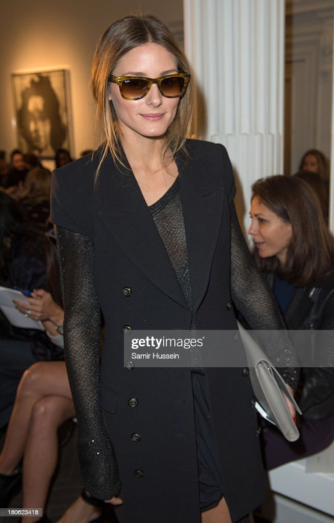Olivia Palermo attends the Emilia Wickstead show during London Fashion Week SS14 at the Halcyon Gallery on September 15, 2013 in London, England.