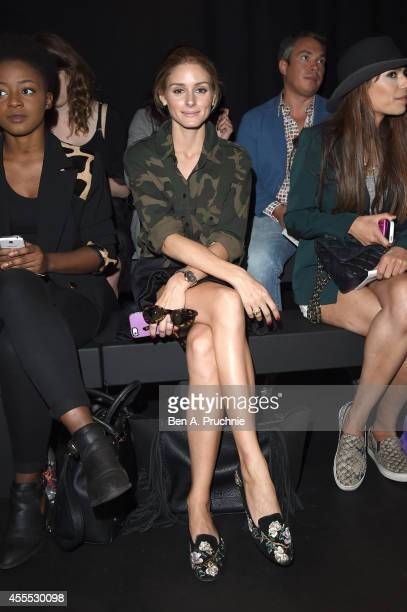 Olivia Palermo attends the Emilio De La Morena SS15 Fashion Show in partnership with Freixenet at The Hospital Club on September 16, 2014 in London,...