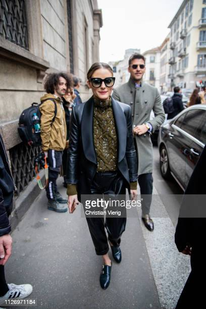 Olivia Palermo attends the Ermanno Scervino show at Milan Fashion Week Autumn/Winter 2019/20 on February 23 2019 in Milan Italy